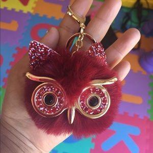 Accessories - Women 's Owl Pom Charm Car  & Handbag key